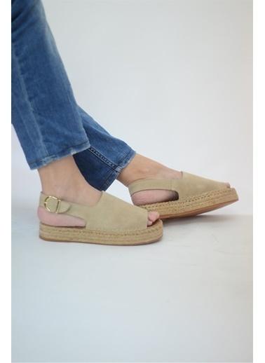 La scada Bej Kadın Sandalet 21565 Bej